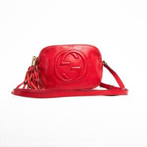 Authentic GUCCI Soho Small Disco Bag in Red